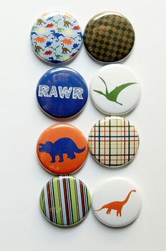 Dinosaur 1 Flair by aflairforbuttons on Etsy, $6.00  #aflairforbuttons #flairbuttons #flair #dinosaurs