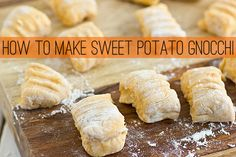 How To Make Sweet Potato Gnocchi -- We've made this with fresh ground whole spelt flour too.