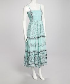 Take a look at this Teal Odelia Dress by Bacci on #zulily today!