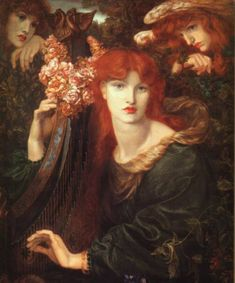 La Ghirlandata by Dante Gabriel Rossetti who founded the Pre Raphaelite Brotherhood of painters