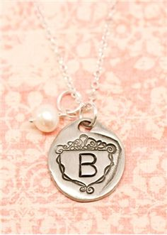 petite family crest necklace