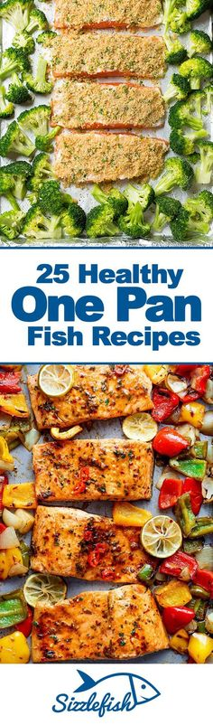 Easy to make, easy to clean up - these 25 Healthy One Pan Fish Recipes are your secret to healthy eating success all week long!