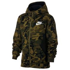 Boys 8 20 Nike Full Zip Club Camo Hoodie in 2019 | Camo