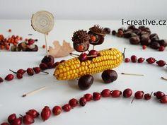 podzimní vyrábění s dětmi - kaštanoví závodníci Nature Crafts, Preschool Activities, Crafts For Kids, Vegetables, Halloween, Autumn, Bricolage, Basteln, Crafts For Toddlers