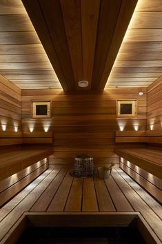 Saunagalleria I SUN SAUNA Oy I Ideoita saunaremonttiin, saunaideat Basement Sauna, Sauna Room, Contemporary Saunas, Spa Hammam, Sauna Lights, Indoor Sauna, Spa Interior, Interior Design, Sauna Design