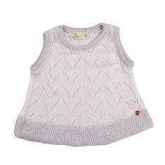 BLUSA INFANTIL FEMININA TRICÔ AMOR PERFEITO BRANCA – MINI LADY A blusa  infantil feminina tricô Amor Perfeito é confeccionada em tricô,  proporcionando um ... 59694cbc84