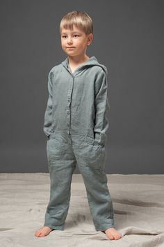 Linen clothing for boys, pure linen children clothing, blue gray jumper with pants, modern fashion for kids, eco friendly organic clothing