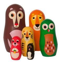 OMM Design Animal Nesting Dolls. #kid #toy