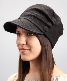 Take a look at this Grace Hats Black Roy Newsboy Hat by Fall for Fashion: Women's Accessories on #zulily today!