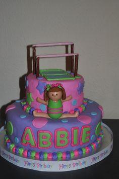 girlie gymnastics cake