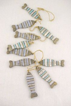 Driftwood Fish Garland 48in