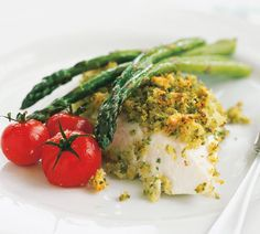 Roasted Fish with Lemon-Caper Crumb