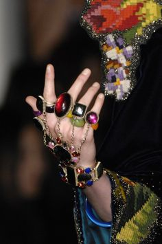 Jean Paul Gaultier:coloured rings
