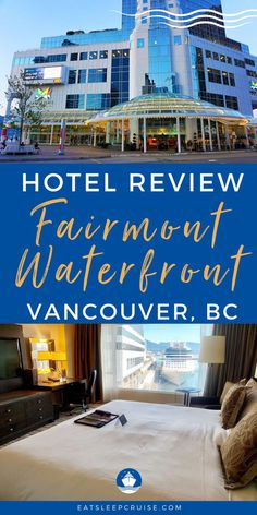 Are you planning an Alaskan cruise vacation in the near future? Then here is the perfect pre-cruise hotel stay for your next Alaska cruise! The Fairmont Waterfront Hotel in Vancouver, British Columbia is located across the street from the cruise port but it offers a lot more than just an ideal location. From a room with a view to a convenient location just to name a few. Check out our travel blog post to find out why you should stay here before your next Alaska cruise vacation! Cruise Port, Cruise Vacation, Alaska Travel, Us Travel, Alaskan Cruise, Hotel Stay, Day Tours, Get Outside