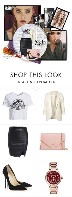 """SheIn contest"" by infinity-em ❤ liked on Polyvore featuring Cushnie Et Ochs, New Look, Tory Burch, Jimmy Choo and Michael Kors"