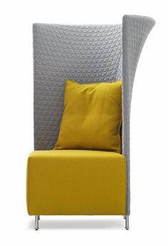Scene XXL chair - The Scene XXL chair seems fit for a modern prince or princess. It's high, quilted back denotes royal elegance while the rest of design is young and. Art Furniture, Upholstered Furniture, Furniture Design, Interior Design Studio, Interior Design Services, Office Sofa, High Back Chairs, Room Accessories, Mellow Yellow
