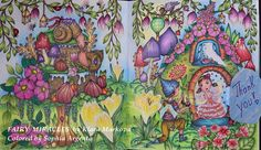 I am already addicted to this new coloring book Fairy Miracles by Klara Markova. Adult Coloring, Coloring Books, Coloring Pages, Pink Mushroom, Markova, Watercolor Pencils, Blue Backgrounds, New Pictures, Colored Pencils
