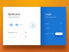 Login screen design desktop user interface ideas for 2019 Layout Design, Login Page Design, App Design, Form Design, Flat Web Design, Design Plat, Interface Web, User Interface Design, Design Websites