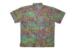 Turkish Blanket - 100% cotton button up Hawaiian style shirts represented by Human Arts Gallery in Ojai, CA.