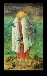The Giantess, 1947,Tempera on wood panel, 117x68cm,collection of Miguel Escobedo-small
