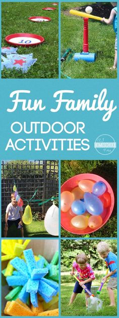 FUN Family Outdoor Activities - so many fun, unique ideas for water games, outdoor activities for families, and more!! (summer bucket list)