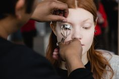 Pin for Later: 50 Genius Morning Beauty Hacks Lazy Girls Will Love Line and Curl Your Lashes at the Same Time