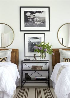andrew brown interiors - sophisticated twin beds