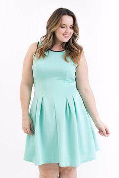 Plus Size Mint Tank Dress – Bailey Blue