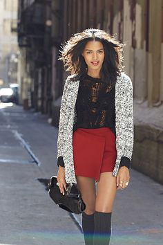 Ladakh Speed Of Life Cardigan (http://www.nastygal.com/promo-fall-essentials/speed-of-life-cardi),  Dylan Knit (http://www.nastygal.com/promo-fall-essentials/dylan-knit) & Sidewinder Skort (http://www.nastygal.com/promo-fall-essentials/sidewinder-skort)