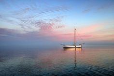 Sunset Sea by Jan Siemiński on Sunset Sea, Power Boats, Jet Ski, Baltic Sea, Winter Sports, Sailboat, Professional Photographer, Skiing, Watercolor Paintings