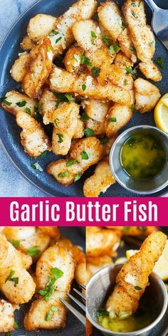 Garlic Butter Fish - crispy and delicious pan-fried fish fillet with garlic butter sauce. This recipes takes 20 mins. Serve alone or with pasta for a wholesome dinner. Garlic Butter Fish - crispy and delicious pan-fried fish fillet with garlic butt Best Fish Recipes, Cod Fish Recipes, Fried Fish Recipes, Healthy Recipes, Salmon Recipes, Seafood Recipes, Cooking Recipes, Recipes Dinner, Fish Filet Recipes