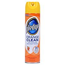 Pledge Orange Clean Furniture Spray - 9.7 oz
