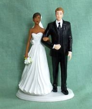 32 fantastiche immagini in Interracial wedding cake topper su ...