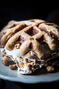 Try a winter twist on s'mores by combining them with homemade marshmallows and waffles for the ultimate indulgence: s'morffles. Click for the recipe by Beth from @LocalMilk and more winter recipe ideas!