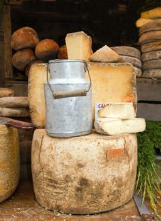 Cantal Cheese, Auvergne, France - another treat from this region Kinds Of Cheese, Milk And Cheese, Wine Cheese, Aged Cheese, Fromage Cheese, Queso Cheese, Cheese Shop, Cheese Lover, French Cheese