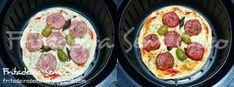 Pizza com Massa Caseira na AirFryer | Fritadeira sem Óleo - AirFryer