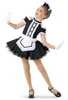 Weissman® | Enchanted Maid Character Costume Girly Girl Outfits, Cute Little Girl Dresses, Nerd Outfits, Cute Dresses, Girls Dance Costumes, Cute Costumes, Halloween Costumes For Girls, Dance Outfits, Young Girl Fashion