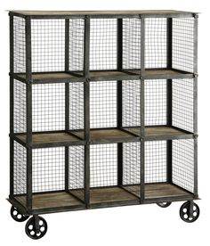 Industrial Metal and Wood Bookcase - bookcase ideas, bookcase design, bookcase clipart Industrial Interior Design, Industrial Apartment, Industrial Living, Industrial Interiors, Rustic Industrial, Industrial Furniture, Industrial Bedroom Decor, Industrial Boys Rooms, Industrial Decorating