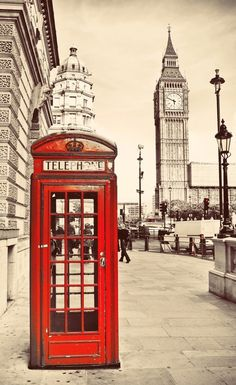 Fall Background, Telephone Booth, Harry Potter Wallpaper, I Love Paris, Tumblr Wallpaper, Landscape Illustration, London Travel, Big Ben, Around The Worlds