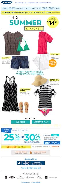 Old Navy email 2014