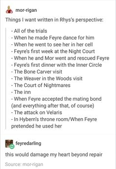 ACOMAF SPOILERS There is a girl that makes a great Rhys POV http://archiveofourown.org/series/685860
