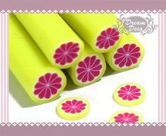 Grape Fruit Polymer Clay Cane / Fimo Cane Stick For 3D Nail Art Decoration Miniature Sweet Food / Dessert / Cake Deco F085. $0.99, via Etsy.