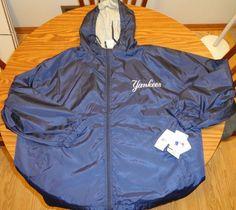 NWT Men's Majestic Blue Yankees Lined Windbreaker Jacket Sz 3XL  #Majestic #NewYorkYankees