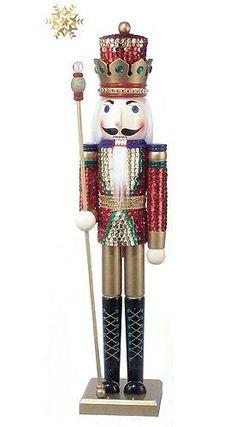 "Large 30"" Wooden Flashy Sequin Royal King Christmas Nutcracker by KSA, http://www.amazon.com/dp/B003S8EYNA/ref=cm_sw_r_pi_dp_BrsQqb1YMPMVM"