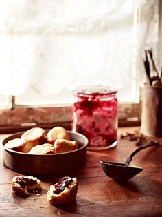 Somewhere between a damper and a scone, puftaloons are an Australian early settler's dish. They are perfect served warm with butter, rosella jam and a cup of tea. Fried Scones Recipe, Pectin For Jam, Tropical Kitchen, Cored Apple, Sbs Food, Cold Desserts, Jam And Jelly, My Jam, Jam Recipes