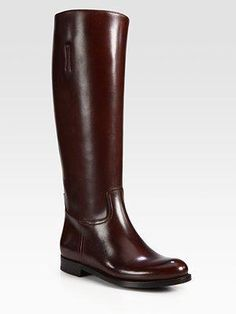Prada Leather Riding Boots - product summary - Bing Shopping