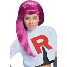 Women Adult Team Rocket Pokemon Jessie Long Purple Costume Wig - Walmart.com