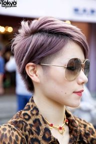 short hair undercut; not the color  WooooooW