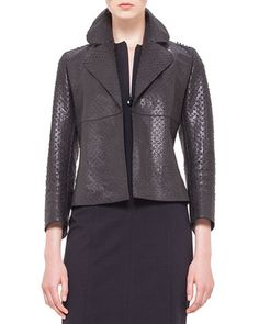 Perforated Napa Leather Jacket, Noir by Akris punto at Bergdorf Goodman.