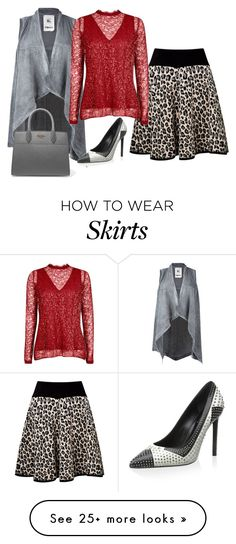 """""""Leopard Print Skirt"""" by sillycatgrl on Polyvore featuring Somerset by Alice Temperley, Lost & Found, Yves Saint Laurent and Prada"""